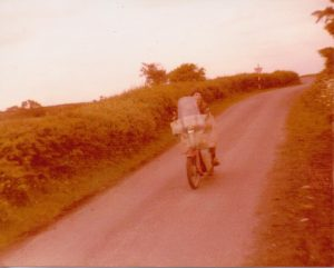 Andy on his first bike, in Ireland
